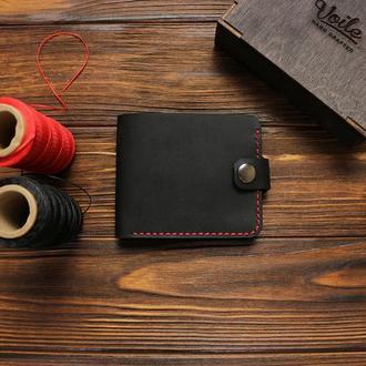 Мужской кожаный кошелек  VOILE vl-cw1-blk-red