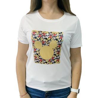"Женская футболка с принтом ""Голова Микки Мауса"" Push IT"