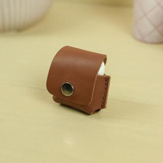 Чехол для AirPods 1, AirPods 2, кожа итальянский краст, цвет коричневый