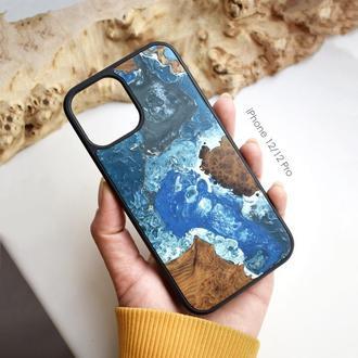 Дерев'яний чохол для iPhone 12/12 Pro з дерева і епоксидної смоли