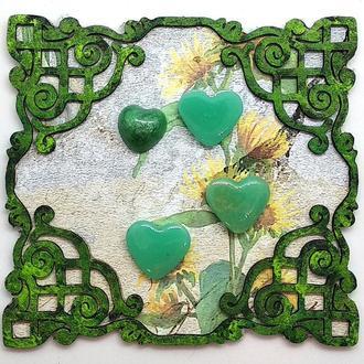 """Фишки для скрапбукинга """"Сердце"""" (зеленые)"""