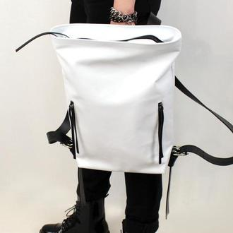 Кожаный рюкзак Tuareg Wife, белый городской рюкзак в минималистичном стиле с карманом для ноутбука