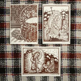 Комплект Пасхальных открыток