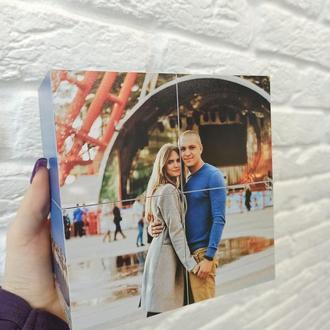 Фотокубик на 6 фото 20х10см - оригинальный подарок девушке, парню, жене, мужу, родителям