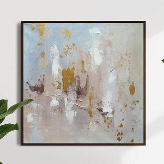 Квадратная интерьерная абстрактная картина на заказ 30-120 см