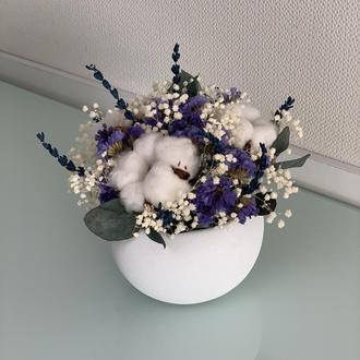 Цветочная композиция Весенний аромат (не завянет несколько лет)