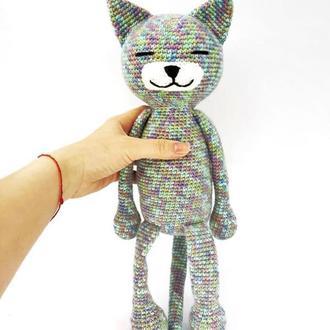 Вязаная игрушка кот  ар.0091