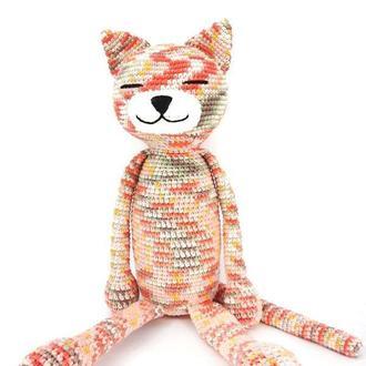 Вязаная игрушка кот ар.1091