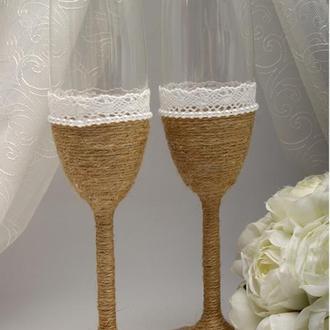 Свадебные бокалы Rustic