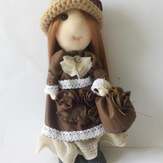 Текстильная интерьерная кукла  Николь