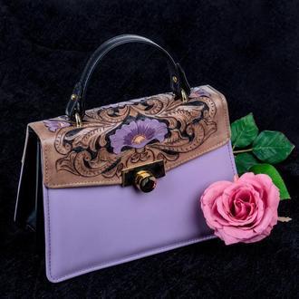 Сумка-портфель из натуральной кожи