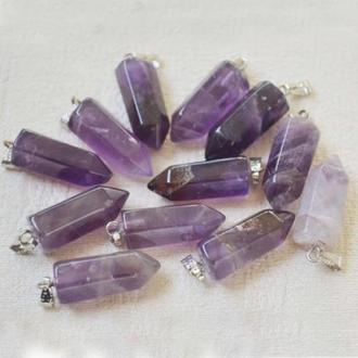 Кулон -маятник Фиолетовый кристалл -Аметист