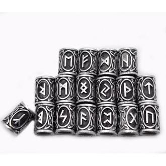 Комплект Руны Викингов в мешочке для рун, цвет серебро