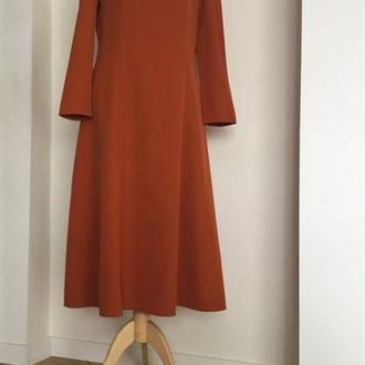 Сукня терракотова з квадратним вирізом