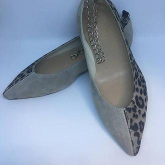 Туфли кожаные женские Solodilova Tornado Серые