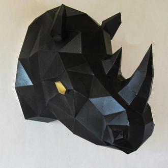 Оригинальный подарок трофейная голова носорог