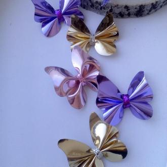 Красиві  метелики пара заколка,резинка)