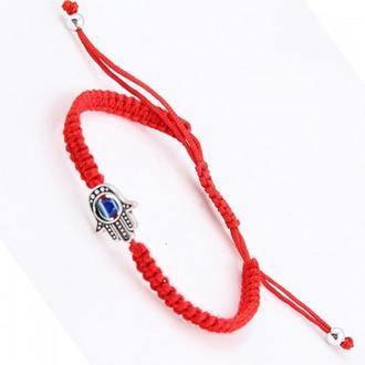 Оберег-браслет «Красная нить» с ладошкой