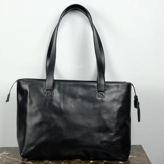 Женская сумка из кожи. Кожаный Шопер. Жіноча шкіряна сумка.