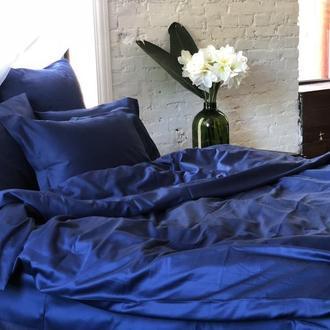 Sleeping Cat коллекция Midnight темно-синий сатин 100% хлопок