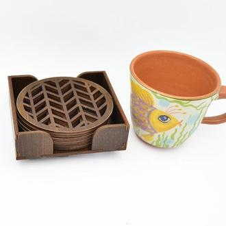 Набор подставок под чашки