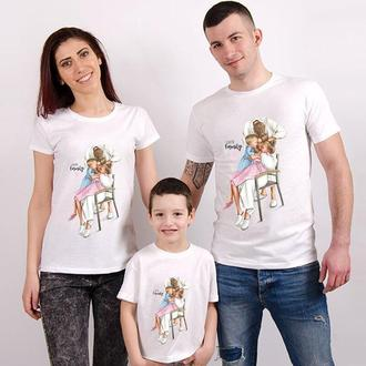 "Футболки Фэмили Лук Family Look для всей семьи ""Семейная идиллия"" Push IT"