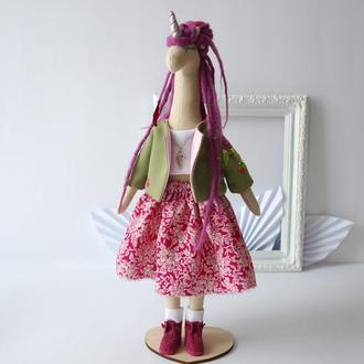 Кукла единорог с дредами