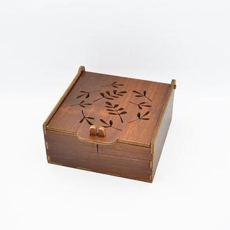 Деревянная шкатулка для мелочи