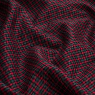 Ткань для рукоделия клетка костюмная красно-зеленая