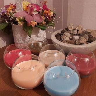 Свечи в вазе