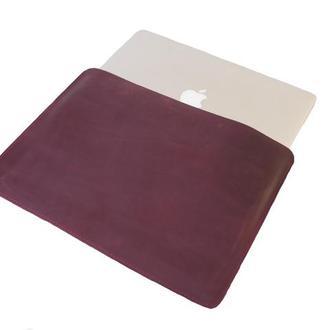 Кожаный чехол для Macbook. 03017/бордо