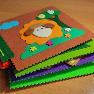 Развивающая книжка для детей из фетра