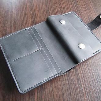 Протмоне (кошелек) с отделом для документов из натуральной кожи