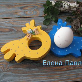 Подставки для яиц в подарунковій ,пасхальный декор,пасхальні курчатка українці, пасхальний подарунок