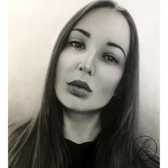 Портрет простым карандашом по фото