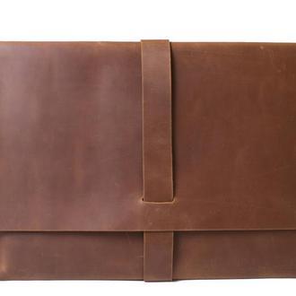 Кожаный чехол для Macbook. 03019/коньяк