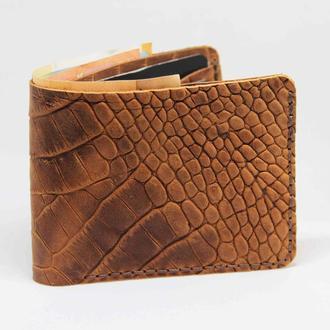 Шкіряний чоловічий гаманець. Гаманець для кредитних карт. Гаманець з натуральної шкіри. Чоловічий га