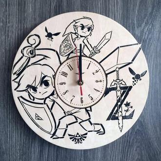 Деревянные настенные часы «The Legend of Zelda»