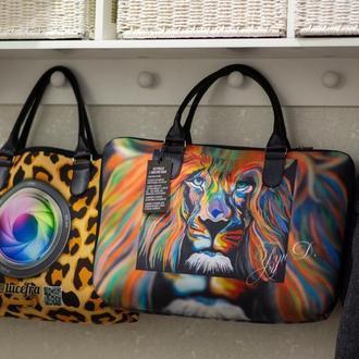 сумка для бизнеса  с любым вашим фото, логотипом, рисунком