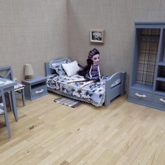 кукольная кровать 1/6 для Барби, Блайз, Монстер Хай и др.