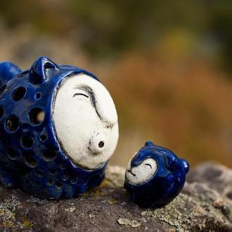 """Керамический светильник """"Кот шар"""""""