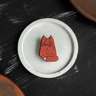 Брошь маленький рыжий Котик (есть много цветов). Брошь маленький Милый Котенок ручной работы