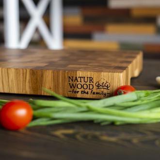 Торцевая разделочная доска Naturwood из ДУБА  ( 400 x 300 x 40 мм)