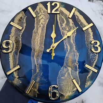 Настенные часы из эпоксидной смолы