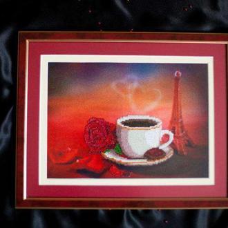"""картина """"Кофе в Париже"""""""