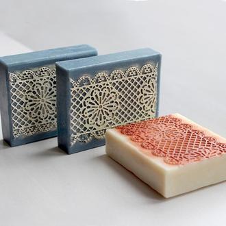 Мыло натуральное с синей глиной Мереживо