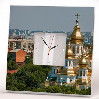 Часы с панорамой фото города Харькова в подарок
