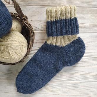 Вязаные шерстяные носки, в'язані вовняні шкарпетки