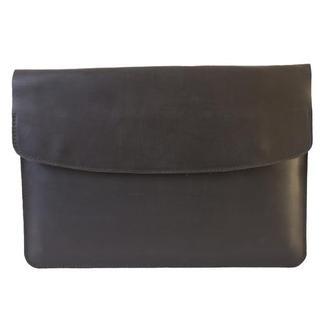 Кожаный чехол для Macbook на скрытых магнитных кнопках. 03021/черный