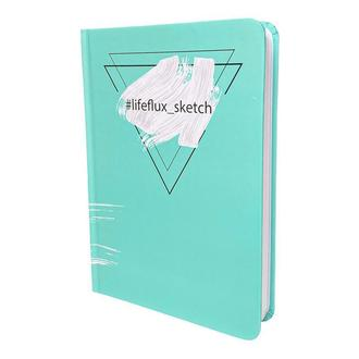 Скетчбук акварельный #Lifeflux_sketch Бермуды А5 твердый переплет 108 страниц мятный